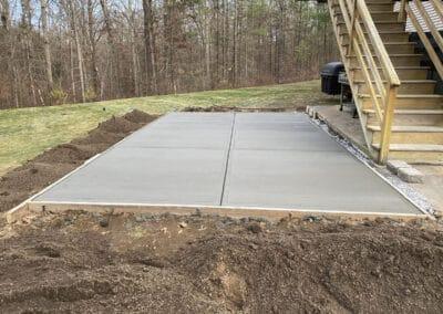 Concrete Patio Uxbridge, MA